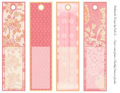 Valentine Bookmark Template  Candy Love  Bookmark Template