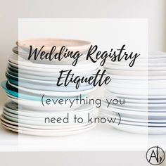 Wedding Registry Etiquette (Everything You Need To Know What I've learned, the do's and don'ts, and how to make registering for your wedding a painless (and even fun! Wedding Registry Checklist, Best Wedding Registry, Bridal Registry, Formal Wedding Invitations, Beautiful Wedding Invitations, Wedding Stationery, Wedding Etiquette, Wedding Planning Tips, Wedding Tips
