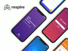 Respire - UI designed by JC Solis. Connect with them on Dribbble; the global community for designers and creative professionals. Web Design, App Ui Design, Interface Design, User Interface, Best Mobile, Mobile App, Compare Cell Phone Plans, All Mobile Phones, Mobile Ui Design