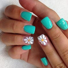 There are three kinds of fake nails which all come from the family of plastics. Acrylic nails are a liquid and powder mix. They are mixed in front of you and then they are brushed onto your nails and shaped. These nails are air dried. Bright Summer Nails, Cute Summer Nails, Spring Nails, Pedicure Summer, Nail Summer, Summer Toenails, Summer Colors, Fancy Nails, Trendy Nails