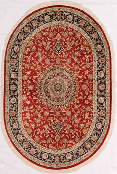 Home Decorators Collection Nicholson Blue/Ivory 7 ft. x 10 ft. Indoor Oval Area Rug 9172760310 - The Home Depot Oriental Pattern, Dynamic Rugs, Tayse Rugs, Area Rug Sizes, Oval Rugs, Home Decorators Collection, Persian Rug, Fade Resistant Fabric, Area Rugs