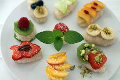 Süßes Sushi mit Obst als Dessert oder Hauptspeise | Projekt: Gesund leben | Blog über Ernährung, Bewegung und Entspannung