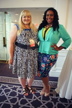 Our stylist @Reah Norman & model Sommer during the #SonsiFFFWeek press event! // Photo via @Rebecca Theplussideofme