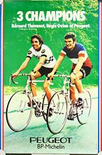 Affiche Peugeot BP Michelin Thevenet Ovion champions velo cycle cycles vélo