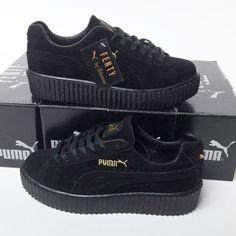 Puma Fenty Siyah Renk Siyah Taban Bayan Spor Ayakkabı f2910e2f4c44