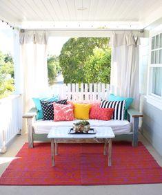 colorful front porch