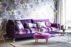 Julkkikset sisustaa kesän asuntomessuilla VOL2 | Asuntomessut Interior Decorating, Decorating Ideas, Interior Design, Purple, Pink, Love Seat, Walls, Room Decor, Design Ideas