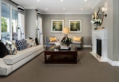 The New way to Rock Hamptons Style: Room by Room Coastal Bedrooms, Coastal Living Rooms, Formal Living Rooms, Living Room Interior, Home Living Room, Living Room Designs, Living Room Decor, Living Area, Hamptons Style Bedrooms