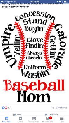 Softball Mom Baseball Mom t-shirt and hoodie design idea. Great for high school spirit apparel. Baseball Crafts, Baseball Stuff, Baseball Mom Shirts Ideas, Baseball Games, Baseball Equipment, Baseball Girlfriend, Baseball Mom Quotes, Baseball Cap, Baseball Live