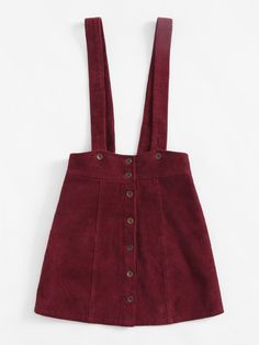 Shop Button Up Cord Pinafore Skirt online. SheIn offers Button Up Cord Pinafore Skirt & more to fit your fashionable needs. Pretty Outfits, Cool Outfits, Summer Outfits, Fashion Outfits, Overalls Outfit, Denim Outfit, Pinafore Skirts, Diy Clothes, Clothes For Women