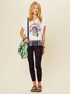 Have these and love them!!  Free People Tribal Print Ankle Crop, $49.95