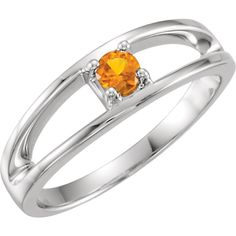 14kt Yellow 1 Stone Ring Mounting for Mother | Stuller