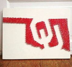 University of Oklahoma String Art idea