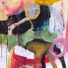 Abstract/abstrakt maleri/painting af Eva Kock. Se mere på www.evakock.dk