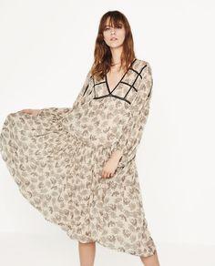 PRINTED TUNIC DRESS-View All-DRESSES-WOMAN   ZARA United States