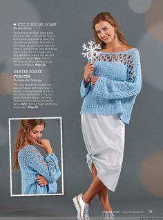 crochelinhasagulhas: Blusa azul em crochê