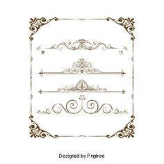 Variety of european pattern vector border 3 PNG and PSD Beige Background, Background Patterns, Wedding Background Images, Vector Border, Photoshop 7, Golden Pattern, Scroll Pattern, Wedding Logos, Pattern Images
