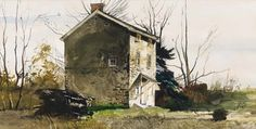 Andrew Wyeth The Mill House at Ivy Mills