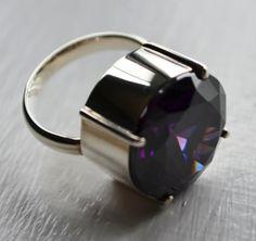 17.25 Carat Amethyst Dazzler Ring