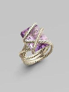 David Yurman - Lavender Amethyst & Diamond Sterling Silver Ring