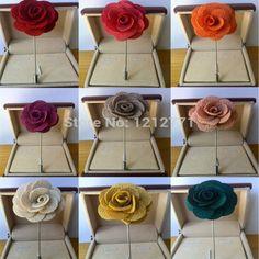 Nuevos hombres de la moda cc broche de flor pin de solapa traje de flor en el ojal tela de hilo pin 15 colores botón Stick flor broches para boda