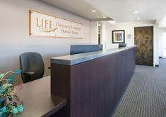Life University Chiropractic Community Outreach Center Lobby Front Desk