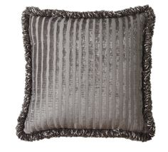 La Rose Synthetic Square Pillow with Tassel Fringe
