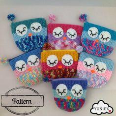 Crochet pattern : Sleepy Owl Pouch by Yunies on Etsy