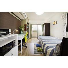 Ikebukuro 4 1room Furnished with Double Bed, Desk, Wardrobe  池袋4丁目 1ルーム ダブルベッド、デスク、ワードローブ