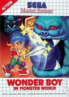 Wonder Boy in Monster World - Master system Sega Video Games, All Video Games, Video Game Reviews, Classic Video Games, Retro Video Games, Games Box, Old Games, Game Design, Consoles