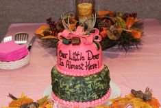 My Camo themed girl baby shower!