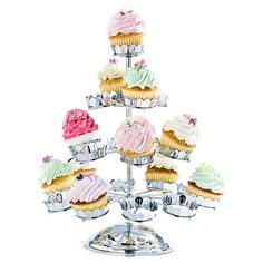 Chrome-plated cupcake tree. Holds twenty-one cupcakes.Product: Cupcake tree    Construction Material: Chrome-plat...