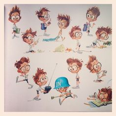 """Early sketches of Sherman from """"The Art of Mr. Peabody Sherman"""" by Scantlebury Scantlebury Cervantes. Dreamworks Animation, Disney And Dreamworks, Boy Character, Visual Development, Character Design References, Crayon, Character Design Inspiration, Book Illustration, Cartoon Drawings"""