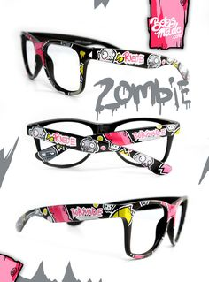 Riede glasses by =Bobsmade on deviantART - hand painted zombie glasses