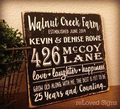 Homestead Est Sign Farm Sign Address Established by reLovedSigns