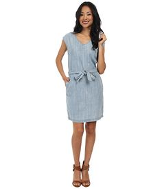 Calvin Klein Jeans Calvin Klein Jeans  Denim Tie Waist Dress Light Blue Womens Dress for 89.99 at Im in!