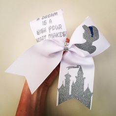 A Dream is A Wish your Heart Makes Cheer Bow by TalkToTheBow