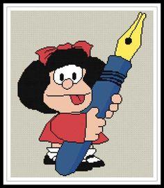 Gráfico para punto de cruz de Mafalda.