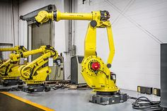 The FANUC robot is offered as new or refurbished through RobotWorx. We can integrate a FANUC robot into your production process easily for a quicker return on investment. Industrial Robotic Arm, Robot Arm, Robot Design, Lab, Sci Fi, Workshop, Home Appliances, House Appliances, Science Fiction