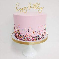 New birthday cake decorating ideas for girls pink parties decorations Ideas Pink Birthday Cakes, Birthday Cakes For Teens, Birthday Ideas, Birthday Wishes, Happy Birthday, Funny Birthday, Simple Birthday Cakes, Tumblr Birthday Cake, Girl Birthday