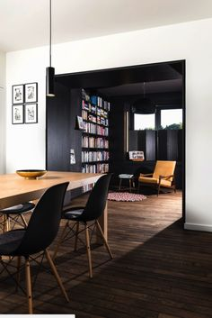 Black apparte box/library space By Studio K, Belgium