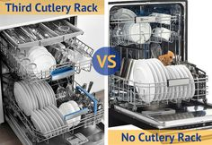 Dishwashers third cutlery rack vs no cutlery rack