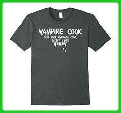 Mens Vampire Cook Funny Halloween Occupation Jobs Tshirt Tee Small Dark Heather - Fantasy sci fi shirts (*Amazon Partner-Link)