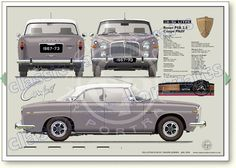 Classic Cars British, British Sports Cars, Car Rover, Auto Rover, Rover P6, Retro Cars, Vintage Cars, Automobile, Car Prints