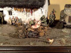 Atyi Tibor diorama ,Bmw R75  1/35 size