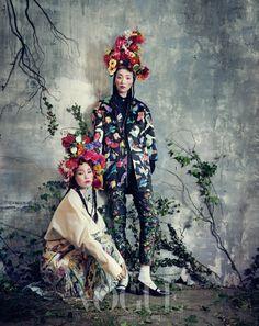 """Room with a Garden"" | Models: Sung Hee Kim & Jung Sun Jin, Photographer: Bo Lee, Vogue Korea"