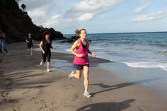 Take a run on the beach on the LeSport package at The BodyHoliday St Lucia.