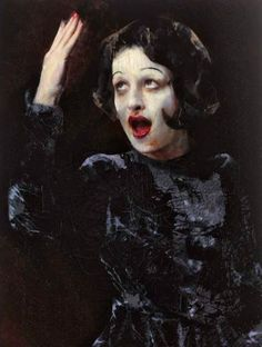2012 EDIT PIAF, Lita Cabellut (b1961, born a gipsy girl in the streets of El Raval in Barcelona, Cabellut was adopted at the age of 13)...