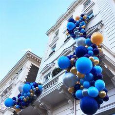 Blue Party Balloons Bubblegum Balloons