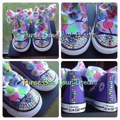 Candyland - Candy Shoppe Crystal Rhinestone Converse - Candyland birthday -  Candy Shoppe - Candy The a92b0733991d